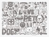 Doodle pet background Stock Image