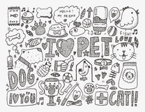 Doodle pet background Stock Photography