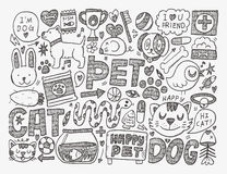 Doodle pet background Stock Photo