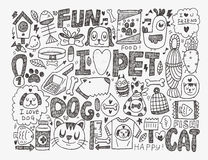 Doodle pet background Royalty Free Stock Images