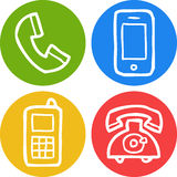Doodle phone icon Stock Images