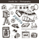 Doodle photography set Stock Images