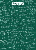 Doodle physics formulas background Royalty Free Stock Images