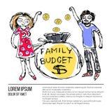 Family budget similar 2 stock illustration