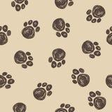 Doodle pies tropi bezszwowego deseniowego tło Zdjęcia Stock