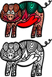 Doodle Pig Stock Images