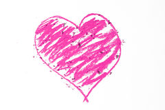Doodle of pink heart Stock Photo