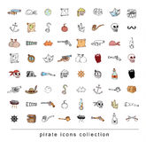 Doodle pirate blade, vector illustration. Royalty Free Stock Images