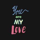 Doodle pisze list o miłości Obrazy Stock