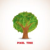Doodle pixel tree Stock Images
