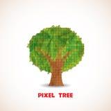 Doodle pixel tree Stock Images