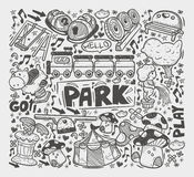 Doodle playground element' Royalty Free Stock Images