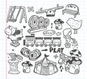 Doodle playground icons Stock Image