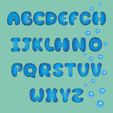 Doodle plump font. Vector illustration EPS 10. Royalty Free Stock Images