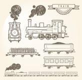 Doodle pociąg Zdjęcie Royalty Free