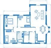 doodle podłoga domu planu styl Obraz Stock