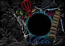 doodle podróż Obrazy Royalty Free