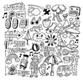 doodle podróż Zdjęcia Stock