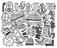 doodle podróż Obraz Royalty Free