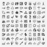 Doodle podróży ikony ustawiać Obraz Stock