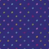 Doodle polka dot pattern Stock Image