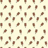 Doodle popsicle ice cream seamless pattern. beige background. Great for yummy summer dessert wallpaper, backgrounds royalty free stock photos