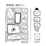 Doodle portfolio wireframe Royalty Free Stock Photos
