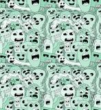 Doodle potworów bezszwowy wzór Zdjęcie Stock