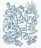 doodle potwory ilustracja wektor