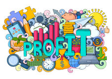 Doodle on Profit concept Royalty Free Stock Photo
