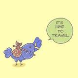 Doodle ptak z mowa bąblem Obrazy Royalty Free