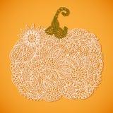 Doodle pumpkin Stock Image