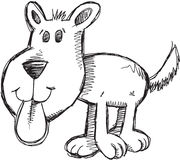 Doodle Puppy Dog Vector Royalty Free Stock Photo