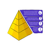 Doodle pyramid with stripes. Royalty Free Stock Photo