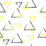 Doodle pyramids seamless repeatable pattern. Stock Photography