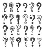 Doodle question marks vector illustration