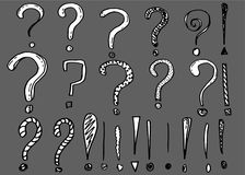 Vector questions marks and exclamation marks stock illustration