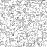 Doodle ręka rysujący grodzki bezszwowy wzór Fotografia Stock