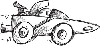 Doodle Race Car Vector Stock Photos