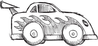 Doodle Race Car Vector Stock Image