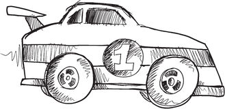 Doodle Race Car Vector Stock Photo