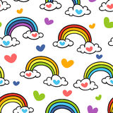 Doodle rainbow royalty free illustration