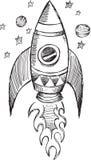 Doodle Rakietowy wektor Obraz Royalty Free