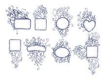 Doodle ramy ilustracji