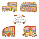Doodle recreational vehicles Royalty Free Stock Image