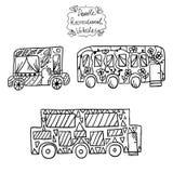 Doodle recreational vehicles-3 Stock Photos