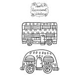 Doodle recreational vehicles-4 Royalty Free Stock Image