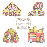 Doodle recreational vehicles-6 Royalty Free Stock Photo