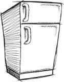Doodle Refrigerator Vector Stock Image