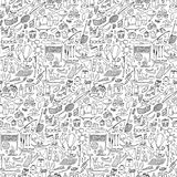 Doodle rest seamless Stock Image